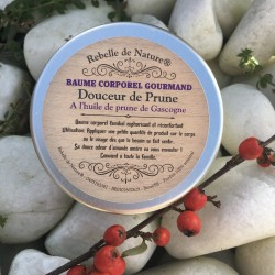 baume corporel gourmand douceur de prune rebelle de nature